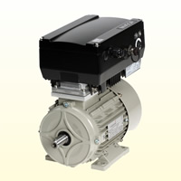3 phase motors with built-in frequency inverter