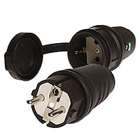 Schuko plugs, sockets and couplings